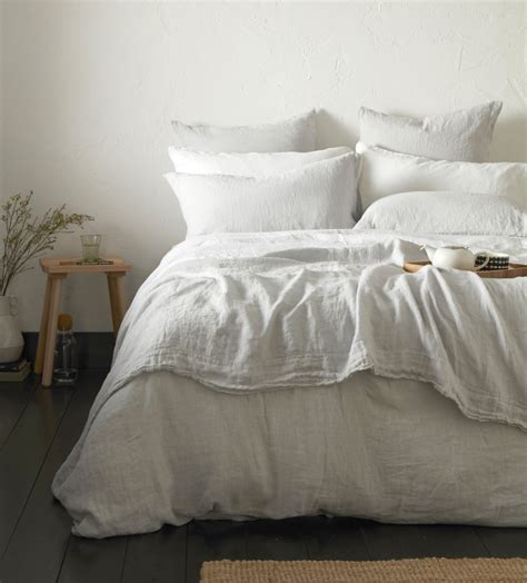 pebble grey 100 linen bedding secret linen store
