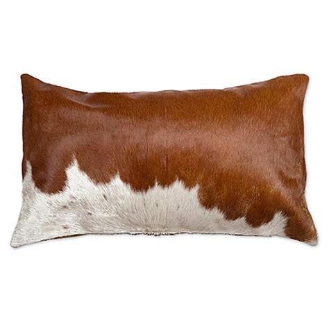 Cowhide Throw by Torino Cowhide Oblong Throw Pillow Bed Bath Beyond