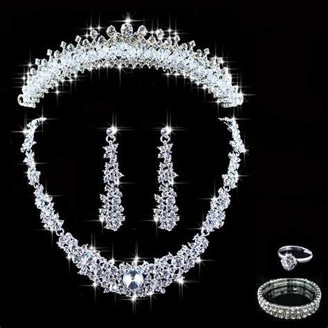 crystal bridal jewelry sets hotsale necklaceearrings