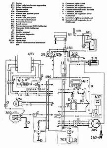Volvo 760  1990  - Wiring Diagrams - Ignition