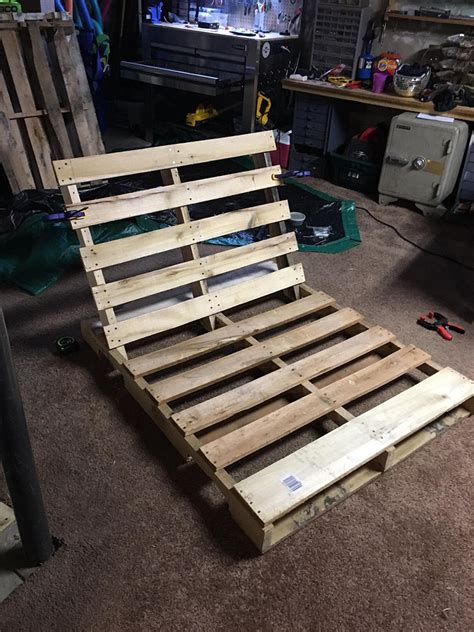 guy transformed  shipping pallets