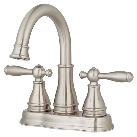 faucet for sink in bathroom shop pfister sonterra brushed nickel 2 handle 4 in