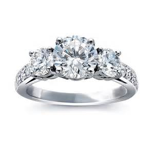 blue nile style 5923 platinum three pave engagement ring engagement rings - Blue Nile Engagement Ring