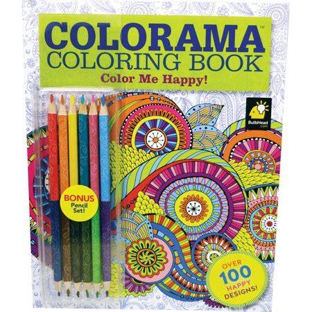 walmart coloring books colorama color me happy coloring book walmart