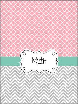 teacher binder covers pretty pink tiffanys blue theme