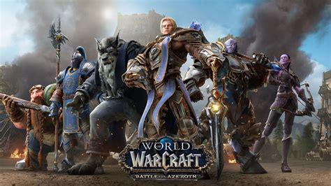 world  warcraft battle  azeroth alliance fond