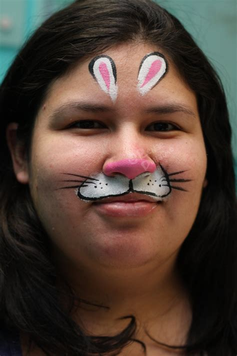 bunny mask original  renduh facepaint  deviantart