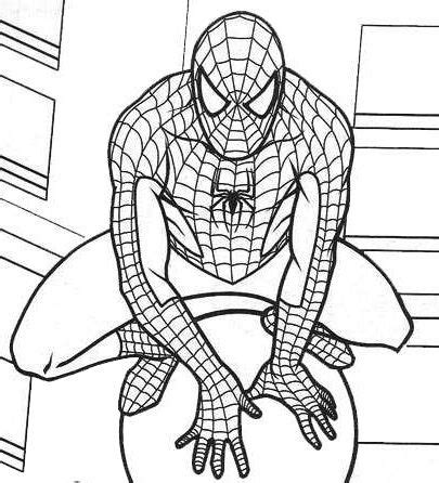 marvel spiderman coloring pages  spiderman coloring