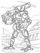Coloring Pages Robots Printable Boys sketch template