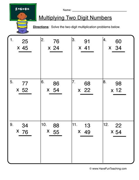 Free Long Division Worksheets On Graph Paper  Division Worksheets2 Digit Multiplication