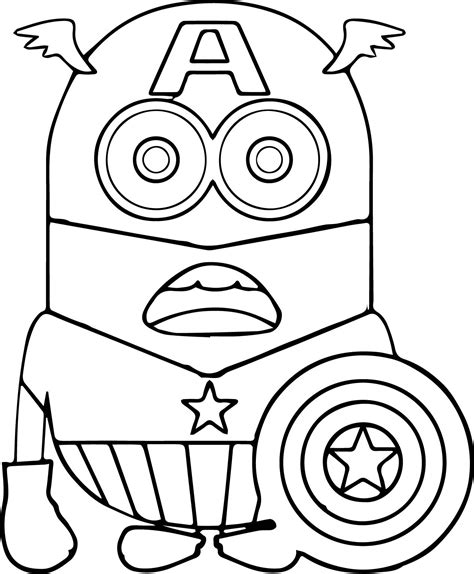 Coloring Pages Minion Coloring Pages Bob Designs Canvas