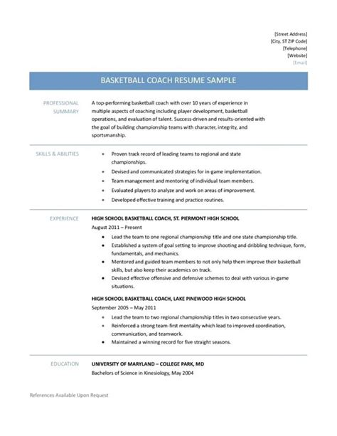 9 basketball resume template for player resume how to make