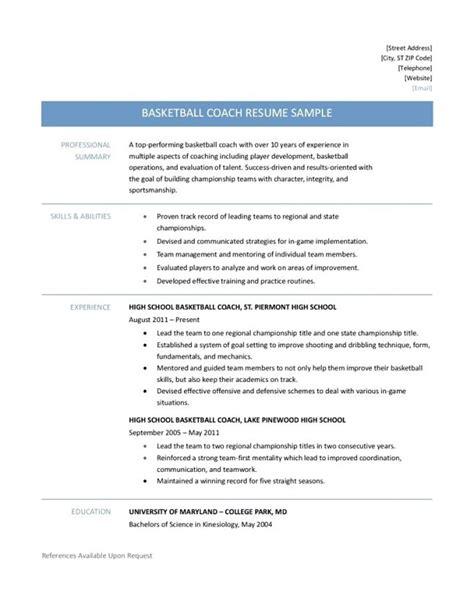 9 basketball resume template for player resume