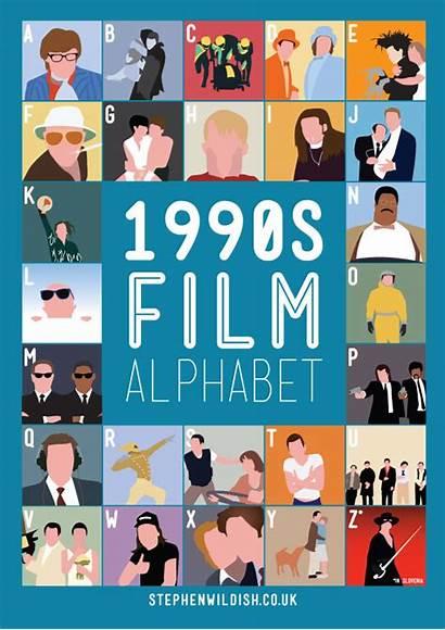 Film Alphabet 1990s Poster 1990 Quizzes Knowledge