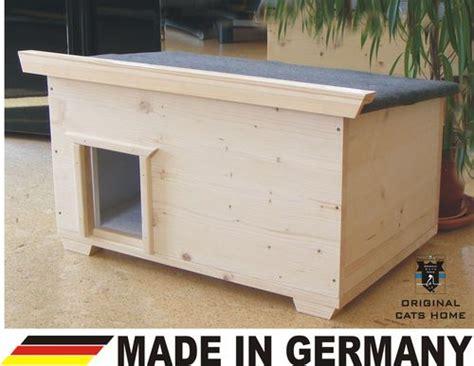 katzenhaus aussen winter catshome katzenh 228 user katzenhaus aus echtholz bei home of pets