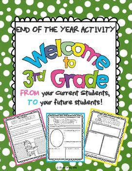 welcome to third grade end of the year activity book is a