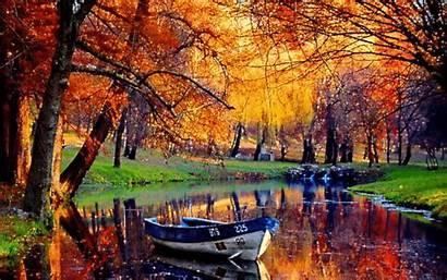 Fall Glittery Autumn Scenery Lake Colors Pretty