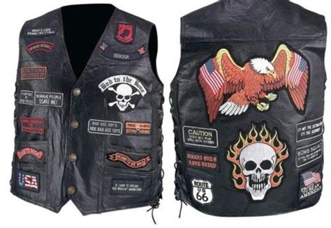 Mens Black Leather Biker Motorcycle Harley Rider Chopper