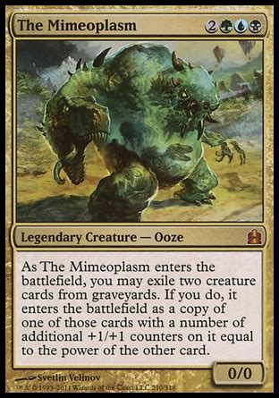 mtg infect deck edh edh the mimeoplasm multiplayer commander decklists