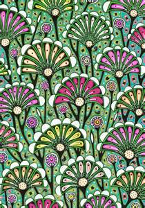 design patterns c floral drawing bright stylized flower pattern nouveau style interior decoration