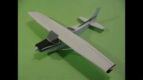 cessna 172 templates cessna skylane paper airplane 3d model youtube
