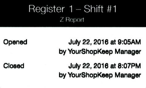 report reports register run