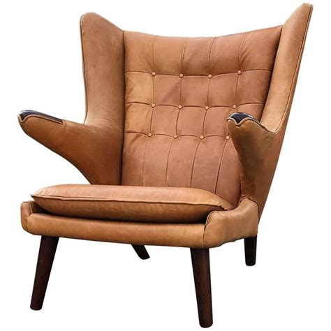 hans wegner papa wingback lounge chair for sale at