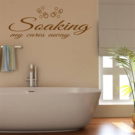 bathroom wall quote by mirrorin notonthehighstreet com