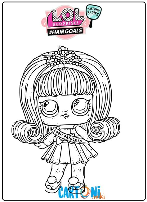 Coloring Lol Surp by Prom Princess Lol Hair Goals Coloring Pages