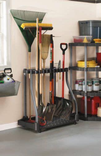 garden tool storage rake shovel hoe broom handles