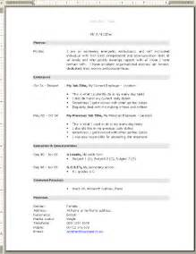 resume themes free resume exle blank cv template free blank cv