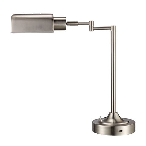 brushed nickel desk l monteaux lighting 17 5 in brushed nickel led swing arm