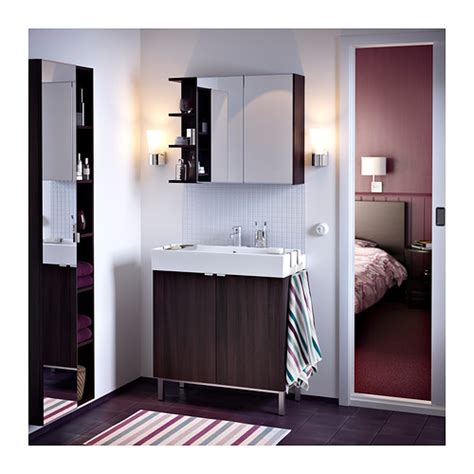 lill 197 ngen mirror cabinet 2 doors 1 end unit white