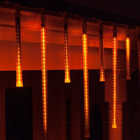 amber grand cascade led light tubes  base