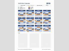 Shift Work Calendar for Excel