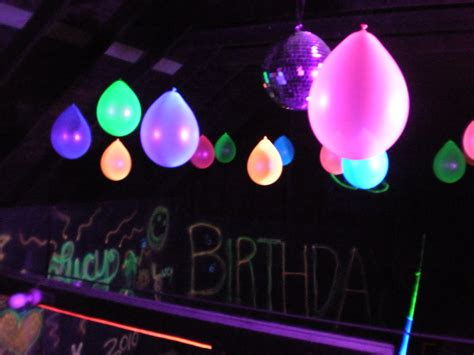 black light glow party technicolor dreams sweet 16 black light highlighter party