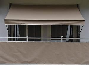 Klemmmarkise style taupe for Markise balkon mit tapete taupe uni