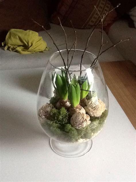 fruehlingdeko hyazinthe im glas fruehlings dekoration