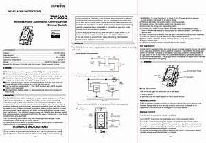 Z Wave Enerwave Zw500d Dimmer Switch Instruction Manual