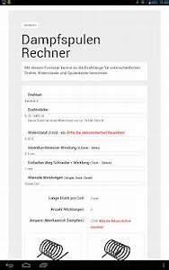 Widerstände Berechnen : dampfspulen rechner android apps auf google play ~ Themetempest.com Abrechnung
