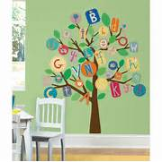ALPHABET TREE WALL DECALS MURAL Baby Nursery Or Bedroom Stickers Decor White Tree Wall Decals Large Tree Nursery Decoration Nursery Wall Birds Wall Stickers Decals In Nursery Baby Bedroom Decorating Ideas Tree Wall Stickers Home Decor Living Room Diy Vinyl Art Mural Decals