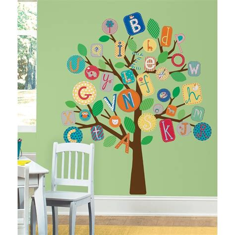 new alphabet tree wall decals mural baby nursery or