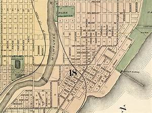 Old Map of Milwaukee 1893 Vintage map - OLD MAPS AND ...