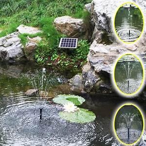 Solar Springbrunnen Garten : solar teichpumpe garten pumpe springbrunnen tauchpumpe ~ A.2002-acura-tl-radio.info Haus und Dekorationen