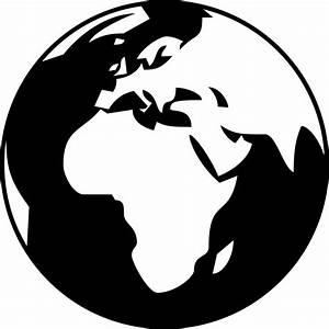 Globe Clipart Black And White Png - ClipartXtras