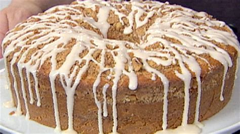 Cool it completely on a wire rack. Sour Cream Coffee Cake   Recipe   Coffee cake recipes, Sour cream coffee cake, Food network recipes
