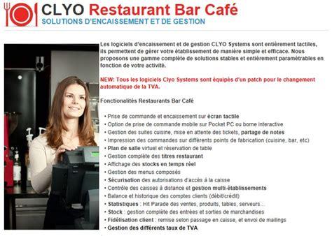 logiciel organisation bureau logiciel clyo systeme pour restaurant bar cafe