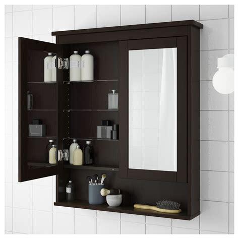 Badezimmer Spiegelschrank Schwarz by Ikea Hemnes Mirror Cabinet With 2 Doors Black Brown