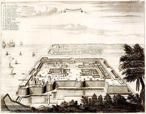 antique map  dutch fort  jaffna patnam sri lanka