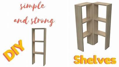 Shelves Build Wooden Diy Easy Strong